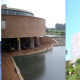 Collage of the buildings of the 3 of the most interesting library designs in Colombia