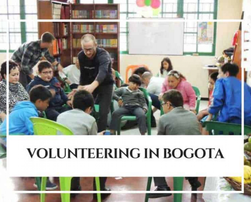 Spanish Students volunteering in Bogota, Colombia