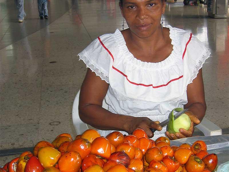Colombian exotics fruits: Chontaduro