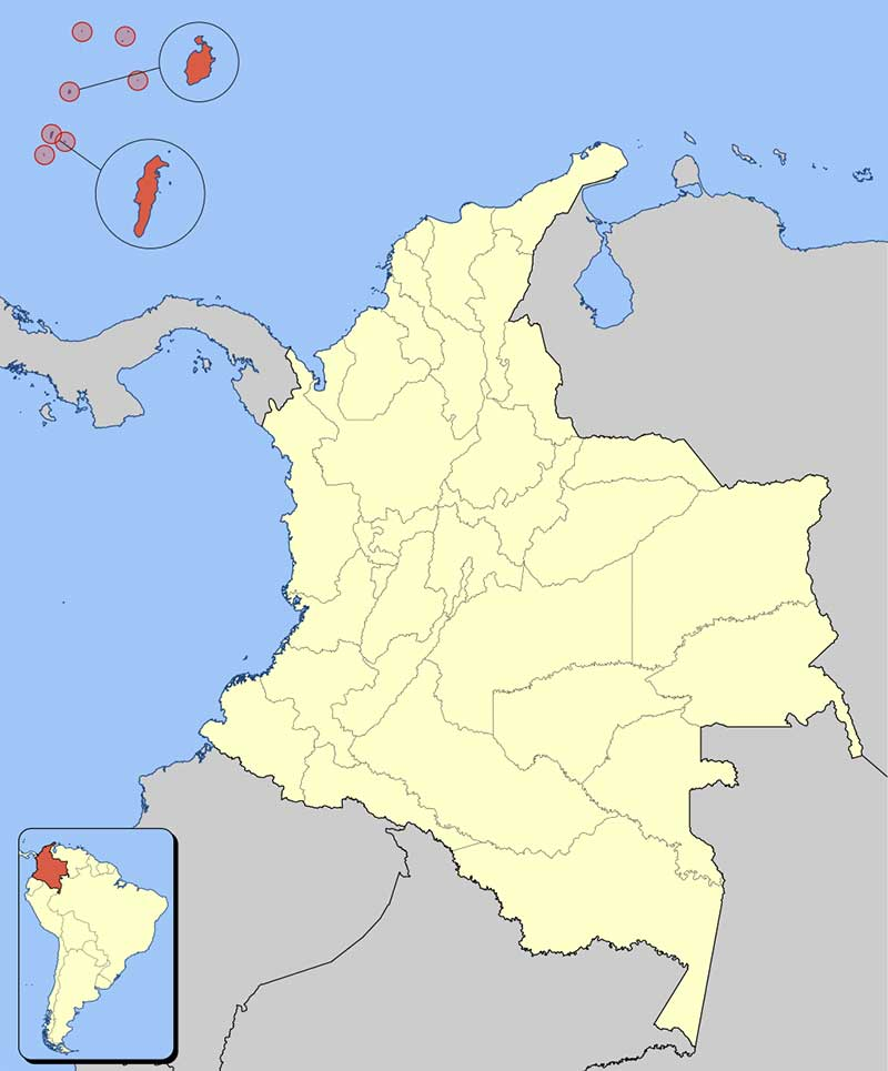 Which dialects are spoken in Colombia? San Andrés and Providence Map