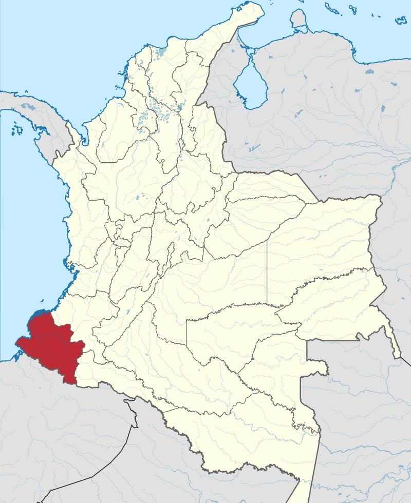 Which dialects are spoken in Colombia? Map of Pasto - Pastuso Dialect