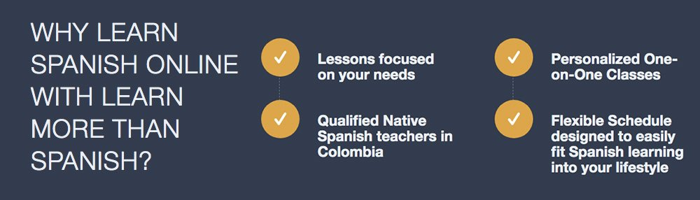 Reasons why learn Colombian Spanish Online with Learn More Than Spanish