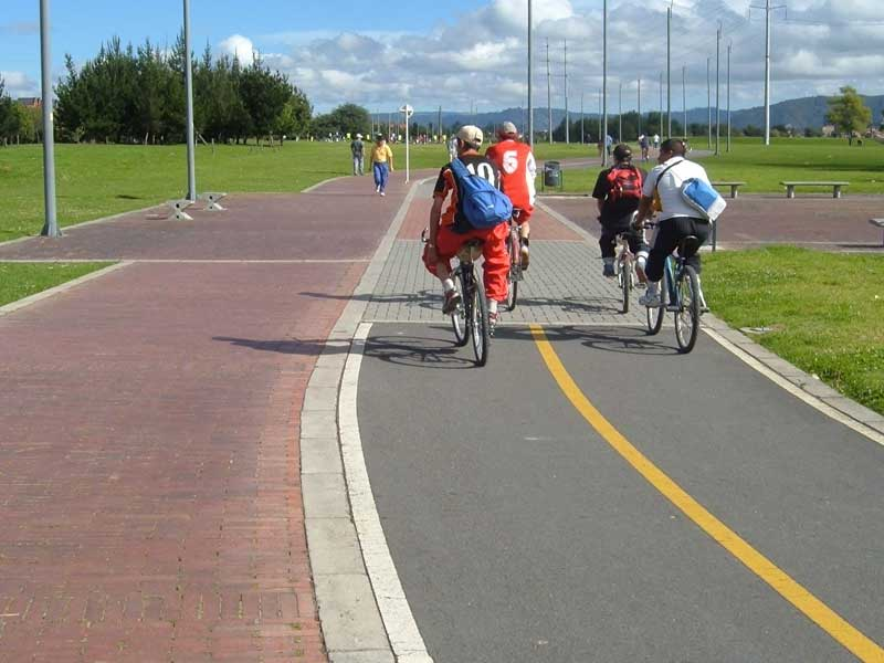 Bogota has one of the most extensive cycle path