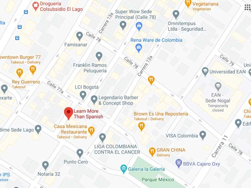 Bogota School Google maps