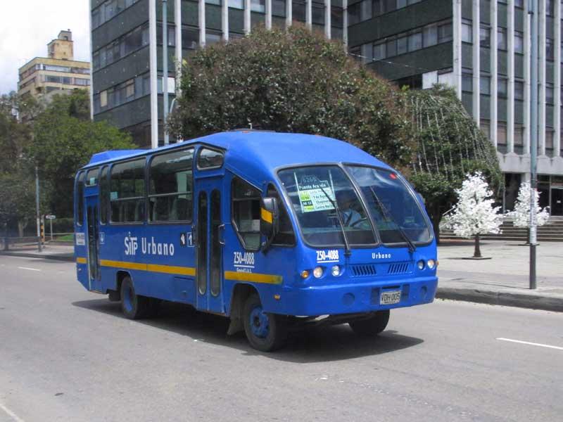 Bogota SITP Blue Bus